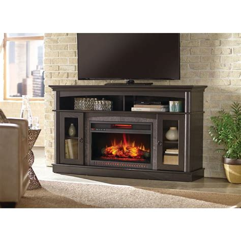 fireplace home depot home decorators collection rinehart 59 in media console