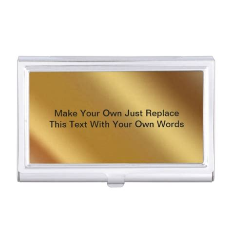 own business card make your own business card holder zazzle