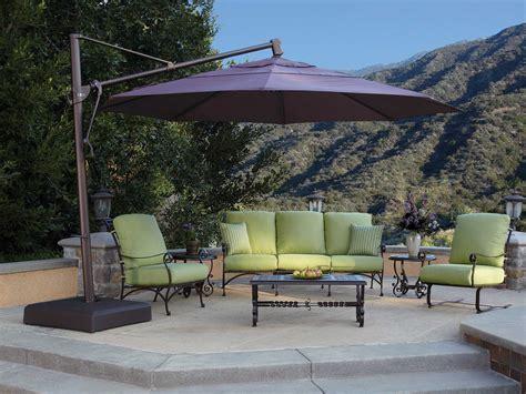 treasure garden patio umbrella treasure garden cantilever aluminum 13 foot wide crank