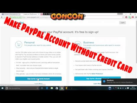 make paypal without credit card make a paypal account without a credit card