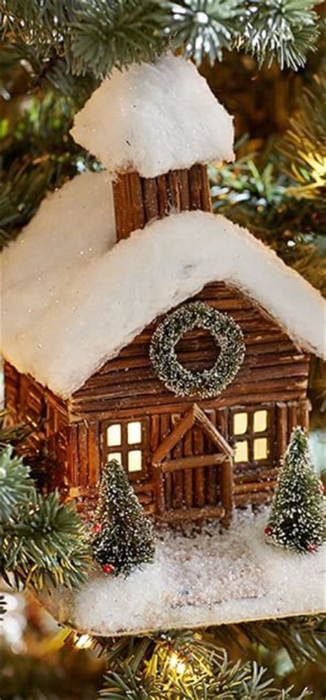 cabin ornaments log cabin ornament houses home