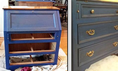 diy chalk paint and glaze diy makeover with napoleonic blue chalk paint