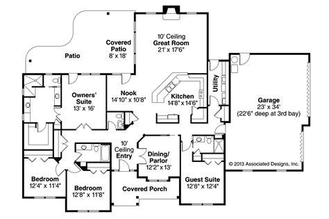 prairie style floor plans prairie style house plans fall creek 30 755 associated designs
