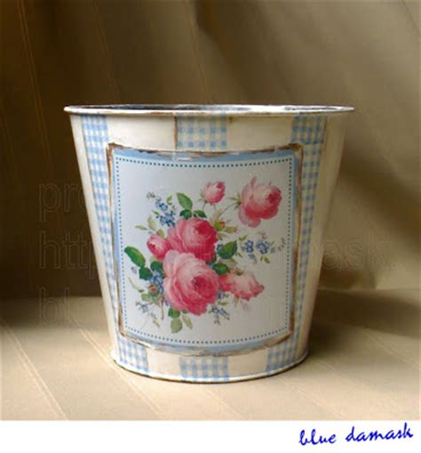 decoupage tins house of blue damask decoupage project tin