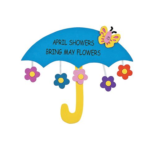 april crafts for april showers bring may flowers sign craft kit