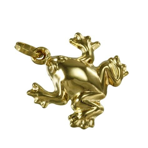hollow gold 9ct hollow gold frog charm sayerslondon