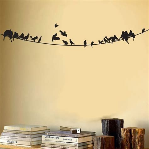 birds wall stickers birds sitting on a powerline vinyl wall decal