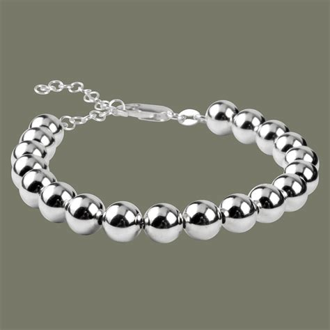 8mm bead bracelet sterling silver 8mm bead bracelet