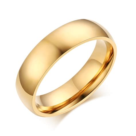 stainless steel for jewelry fashion wedding ring for 18k gold plated stainless