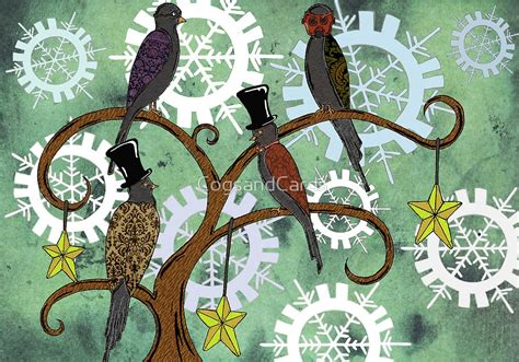 Victorian Inspired Home Decor quot four colly birds quot by cogsandcards redbubble