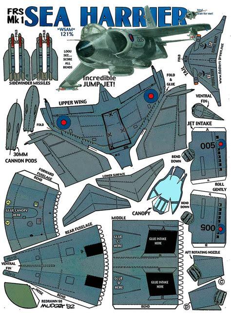 paper model craft sea harrier frs mk1 fiddlers green paper models