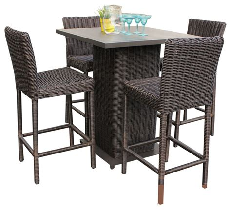 bistro table sets outdoor furniture rustico pub table set with barstools 5 outdoor