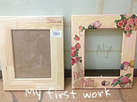 decoupage frame decoupage diy vintage frame decoration and