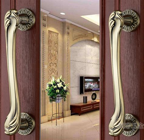 front entrance door handles 315mm pull push handles copper or brass color for entrance