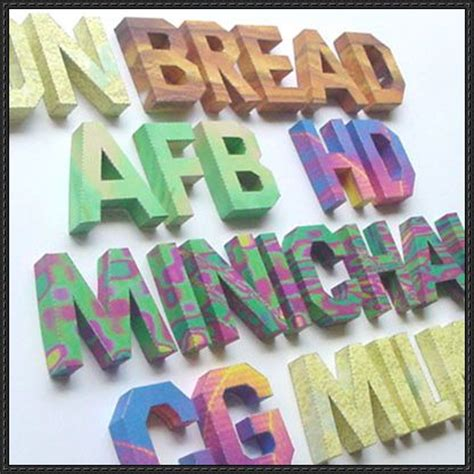craft paper letters alphabet papercraft white version free