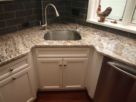 kitchen corner sinks corner sink transitional kitchen newark by