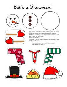 free arts and crafts for smarty printables printable snowman and snow