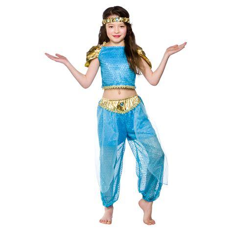 arabian princess girls belly dancer fancy dress costume 3