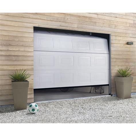 porte de garage sectionnelle hormann h 200 x l 240 cm leroy merlin