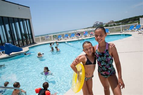 sands beach club kids at the pool   Sands Resorts