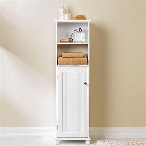White Bathroom Storage Cabinets by Diy Vintage Wood Bathroom Storage Cabinet Using