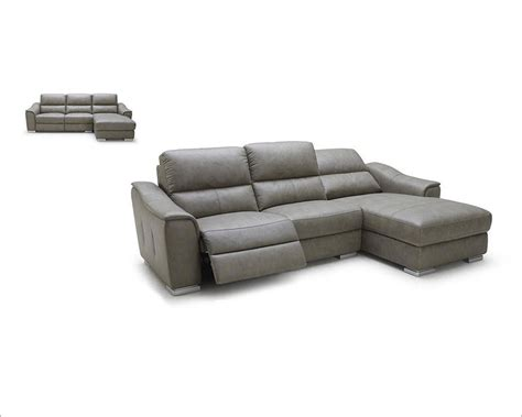 modern leather sofas and sectionals modern leather recliner sectional sofa 44l5987