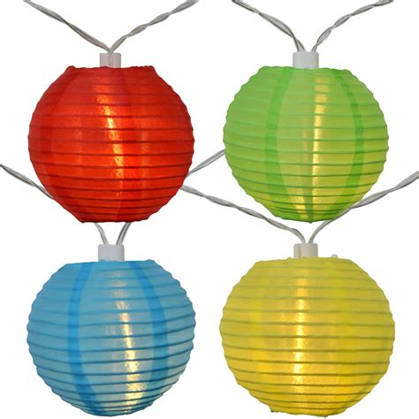 led lights multi color led solar powered multi colored lantern string lights
