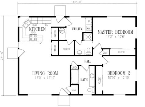 4 bedroom 2 bath house plans ranch style house plan 2 beds 2 00 baths 1080 sq ft plan 1 158