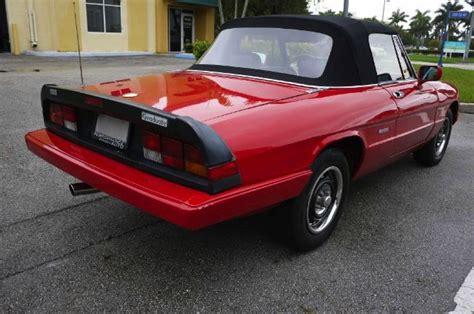 Alfa Romeo Graduate For Sale by 1987 Alfa Romeo Spider Graduate Convertible For Sale