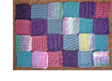 can you knit a square make a beautiful baby blanket out of knitted squares
