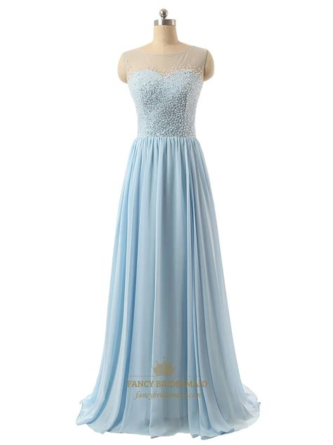 blue beaded dress light blue sequin bodice bridesmaid dress with beaded