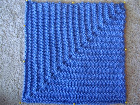 how to knit a square in the a year of swatches august 2011