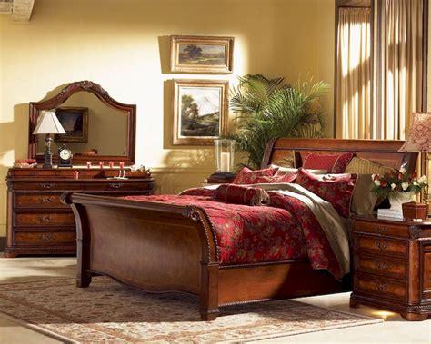 aspen cambridge bedroom set cambridge sleigh storage bedroom set in brown cherry aspen