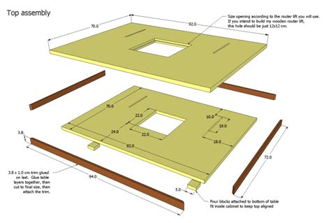 how to make woodworking plans router table plans