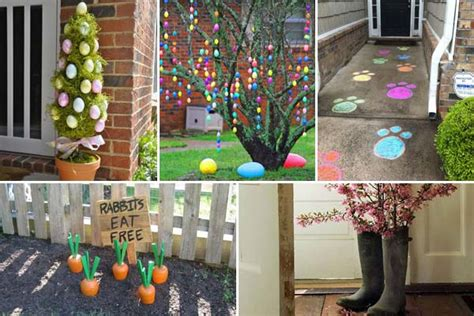 backyard ideas decorating 29 cool diy outdoor easter decorating ideas amazing diy