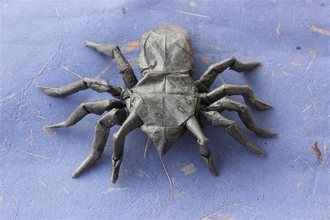 origami tarantula 24 more amazingly realistic looking origami insects