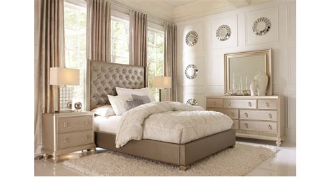sofia vergara bedroom furniture gray 7 pc bedroom upholstered contemporary