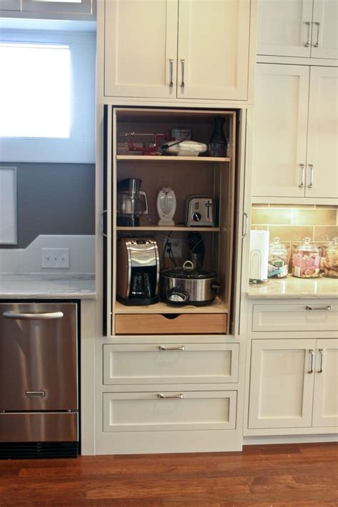 kitchen cabinet appliance garage 25 best ideas about appliance cabinet on