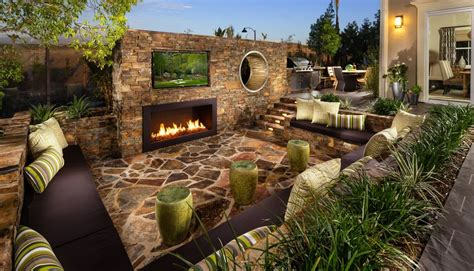 home patio designs rustic patio with pathway fence zillow digs zillow