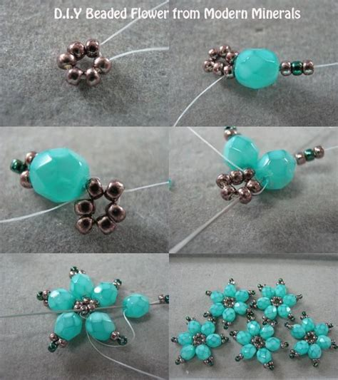 how to make flowers into jewelry 25 best ideas about seed bead tutorials on