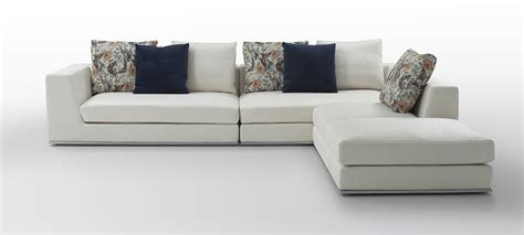 white modern sectional sofa odessa modern white fabric sectional sofa