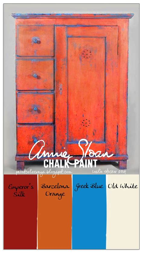 chalk paint colors distressed colorways opposites on the color wheel blue and orange