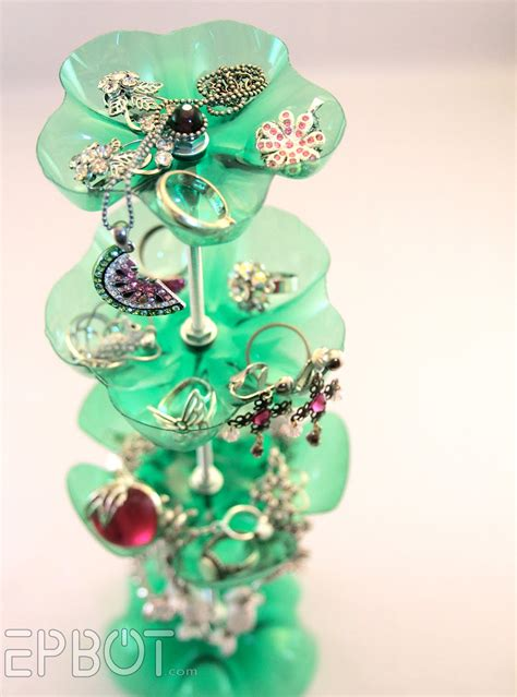 recycled craft projects make a recycled soda bottle jewelry stand 187 dollar store