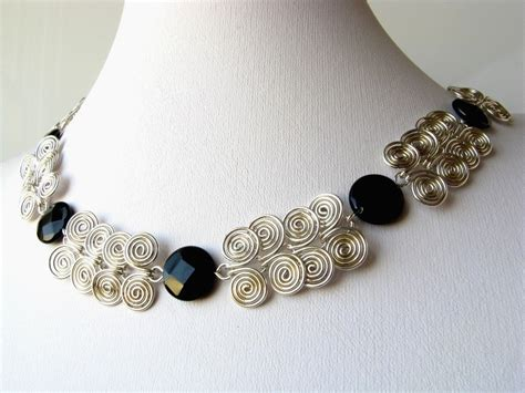 silver wire for jewelry silver wire coil and black onyx by