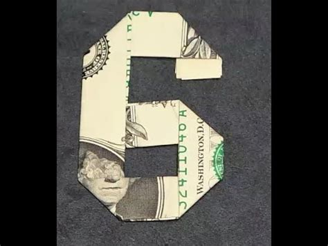 how to make origami numbers fold origami dollar bill number 6