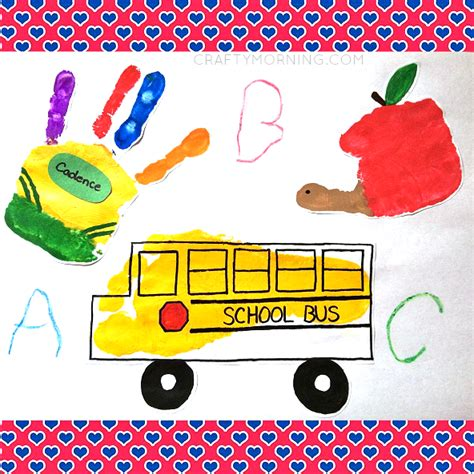 easy back to school crafts for back to school handprint crafts crafty morning