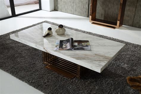 marble living room table modrest kingsley modern marble rosegold coffee table