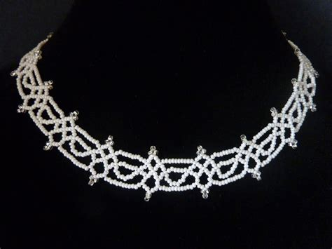 free beading patterns seed free beading pattern for necklace seed bead lace