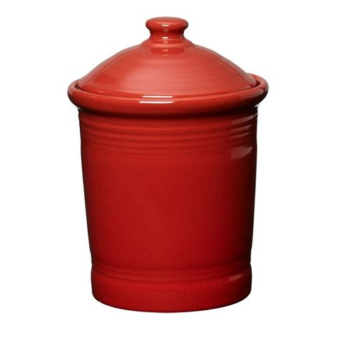 Small Storage Canister or Cookie Jar (1 Quarts) in Scarlet Red from Fiestaware