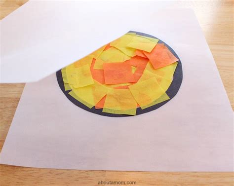 tissue paper stained glass craft for tissue paper stained glass for about a